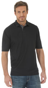 Wrangler Men's Black 20X Advanced Comfort Short Sleeve Polo Shirt , Black, hi-res