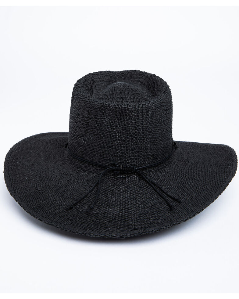 Nikki Beach Women's Eros Toyo Rancher Straw Hat , Black, hi-res
