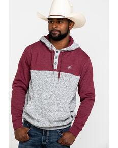 HOOey Men's Grey Jimmy Color Blocked Hooded Sweatshirt , Grey, hi-res