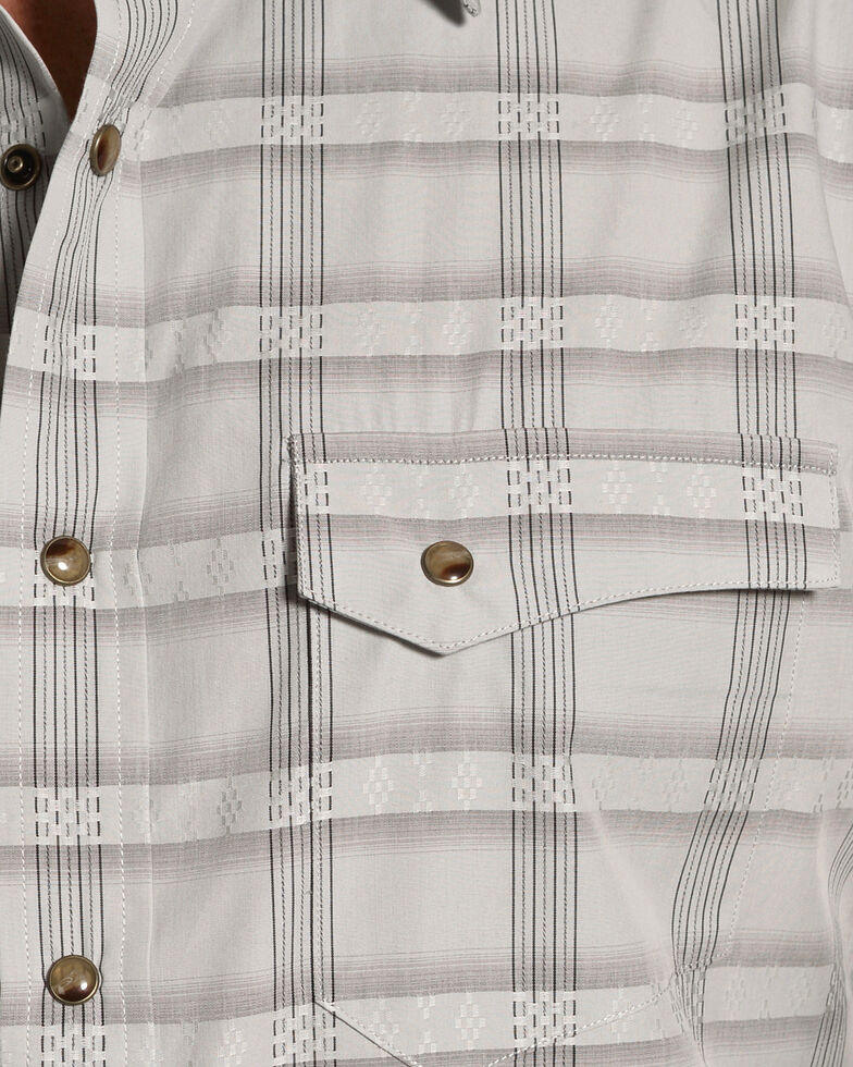 Pendleton Men's Grey Cody Short Sleeve Western Snap Shirt, Grey, hi-res