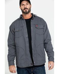 Ariat Men's Grey FR Rig Shirt Work Jacket , Grey, hi-res