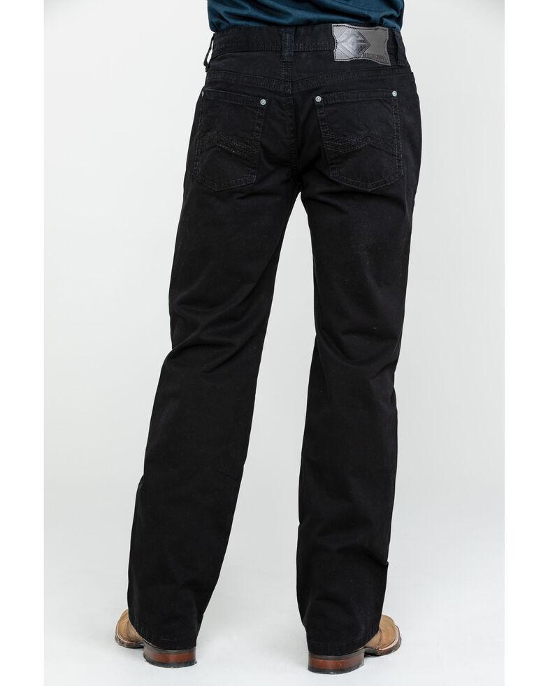 Rock & Roll Cowboy Men's Black W Stitch Pistol Straight Jeans , Black, hi-res