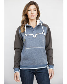 Kimes Ranch Women's BFF Colorblocked Hoodie  , Navy, hi-res