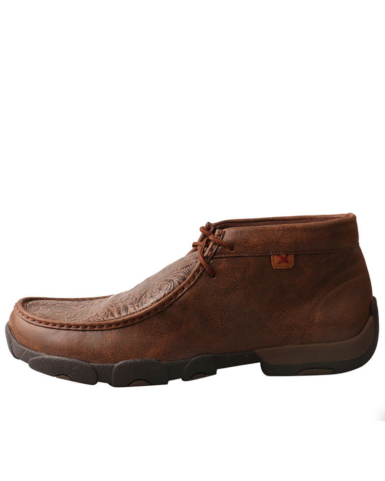 Twisted X Men's Tooled Driving Moc, Brown, hi-res