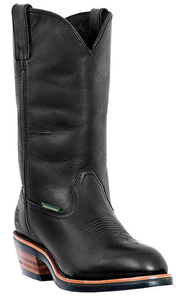 Dan Post Men's Albuquerque Waterproof Pull-On Work Boots - Round Toe, Black, hi-res