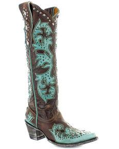 Old Gringo Women's Ilona Overlay Western Boots - Snip Toe, Brown, hi-res
