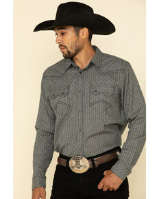 Cody James Men's Gallop All-Over Floral Print Long Sleeve Western Shirt - Tall , Grey, hi-res