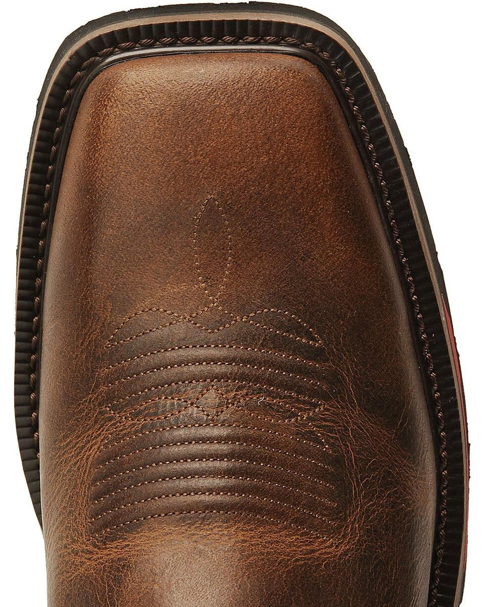 Justin Men's Hybred Rugged Tan EH Western Work Boots - Square Toe, , hi-res