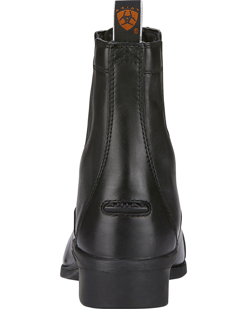 Ariat Heritage Zipper Paddock Riding Boots - Round Toe, Black, hi-res