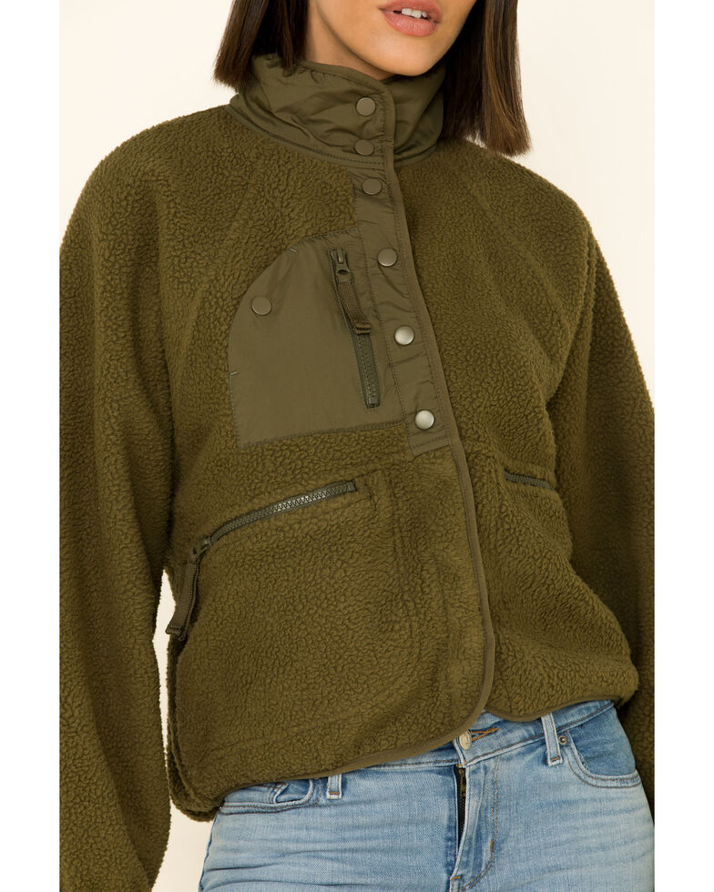 Free People Women's Hit The Slopes Jacket , Olive, hi-res