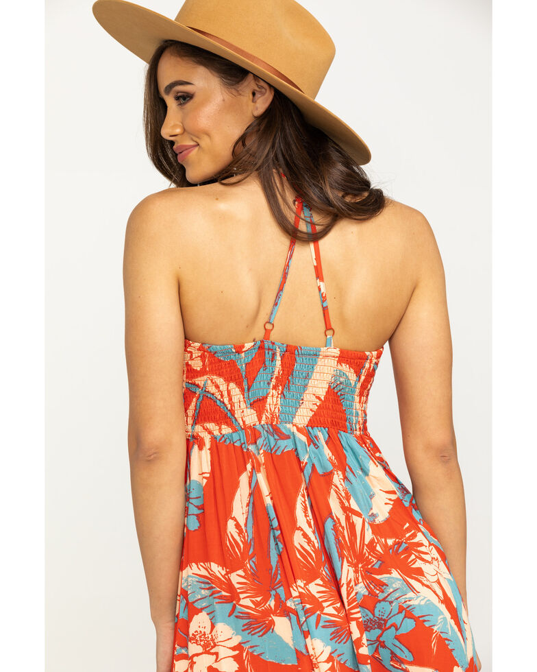 Free People Women's Heat Wave Print Maxi , Red, hi-res