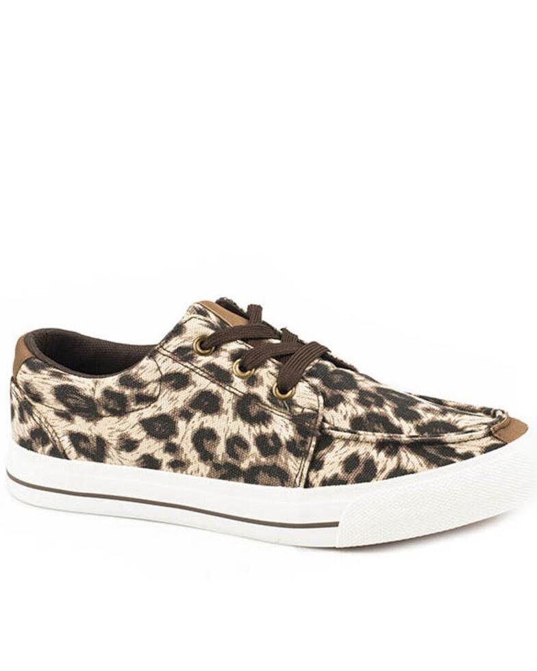Roper Women's Angel Fire Leopard Sneakers, Black, hi-res