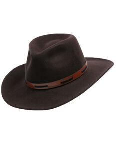 Henschel Men's Brown Sante Crushable Wool Felt Western Outback Hat , Tan, hi-res