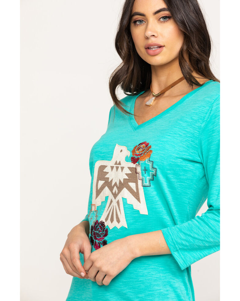 Ariat Women's Diablo Turquoise Falls Tee, Turquoise, hi-res