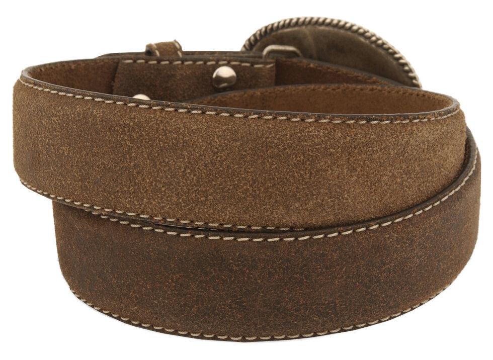 Nocona Cross Vintage Distressed Leather Belt, Brown, hi-res