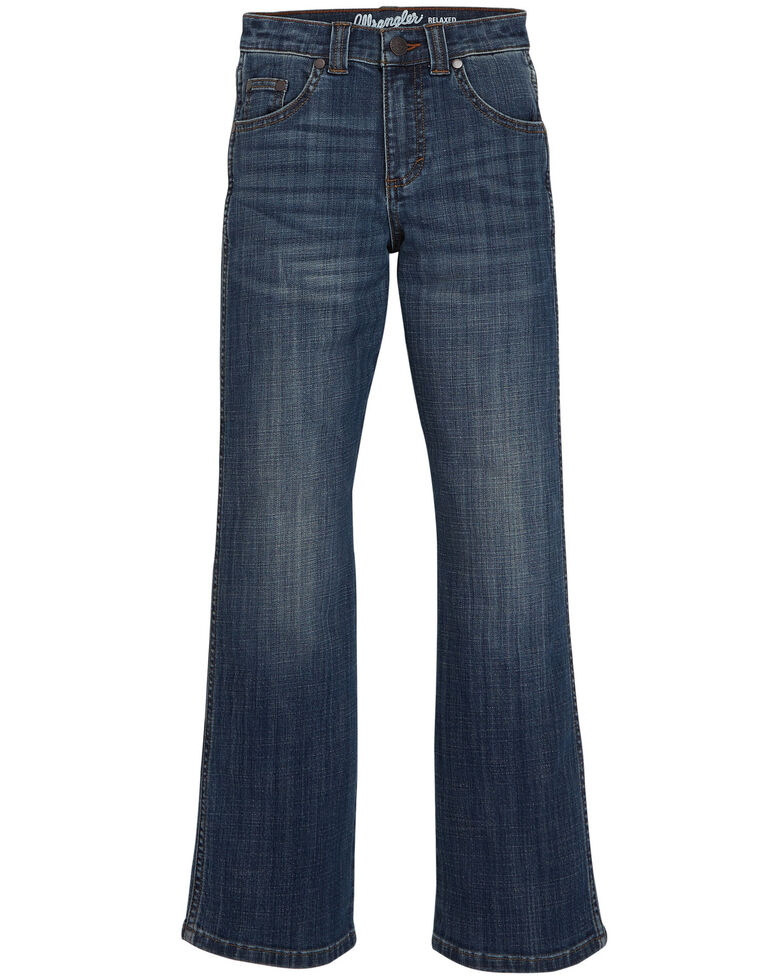 Wrangler Retro Boys' 4-7 Lavon Stretch Relaxed Boot Jeans , Blue, hi-res