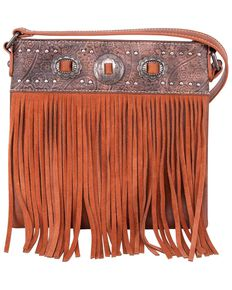 Montana West Women's Fringe Crossbody Bag, Suntan, hi-res