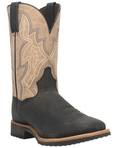 Dan Post Men's Draven Western Boots - Wide Square Toe, Black, hi-res