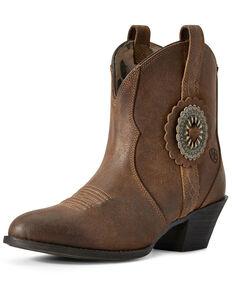 Ariat Women's Cantina Sepai Western Booties - Round Toe, Brown, hi-res