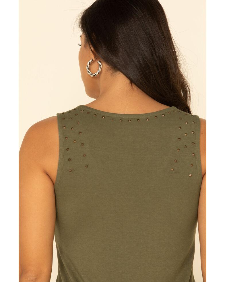 Idyllwind Women's Make Em Turn Studded Tank Top , Olive, hi-res