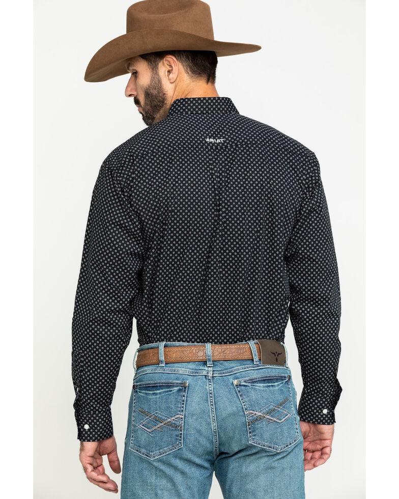 Ariat Men's Orchard Geo Print Long Sleeve Western Shirt - Big , Black, hi-res