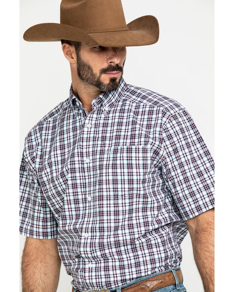 Ariat Men's Leeds Med Plaid Short Sleeve Western Shirt , Multi, hi-res