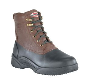 Iron Age Men's Duck Steel Toe Waterproof Work Boots, Brown, hi-res