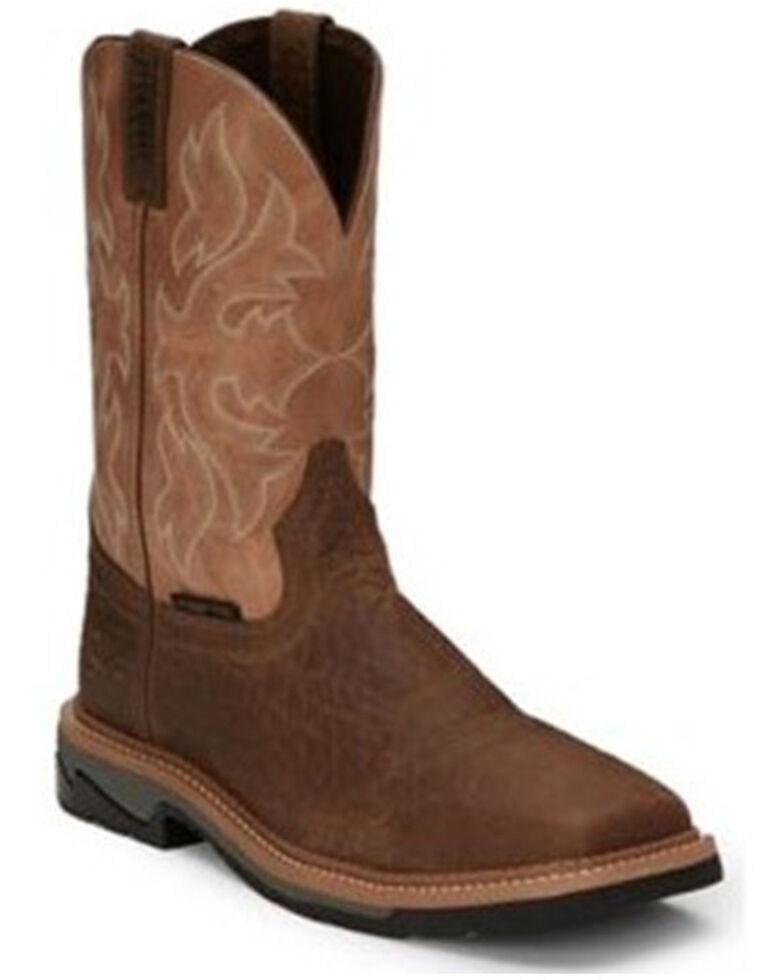 Justin Men's Bolt Western Work Boots - Composite Toe, Tan, hi-res