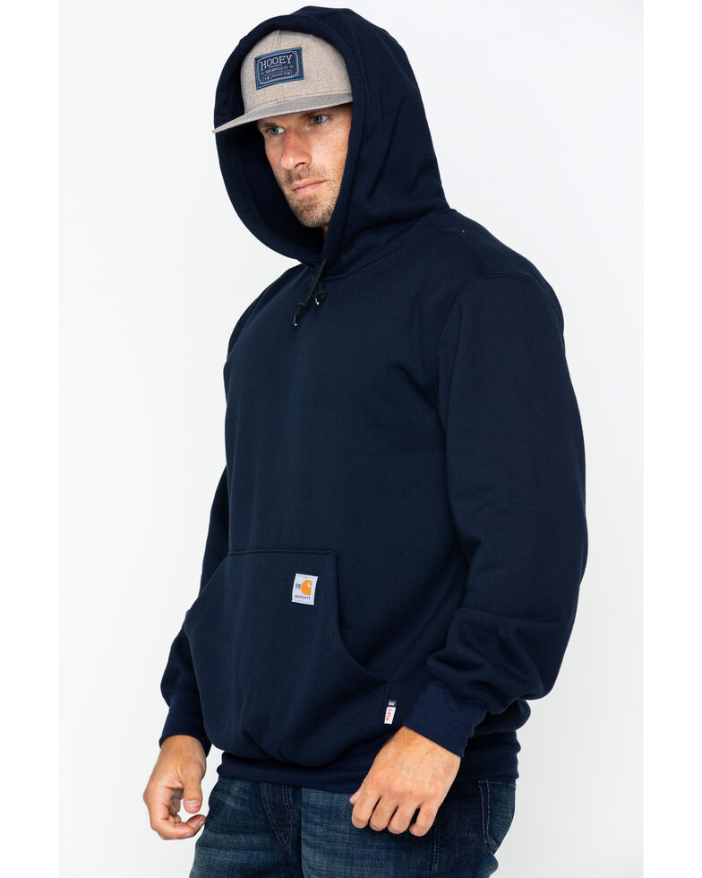Carhartt Men's Hooded Pullover Solid Work Sweatshirt , Navy, hi-res