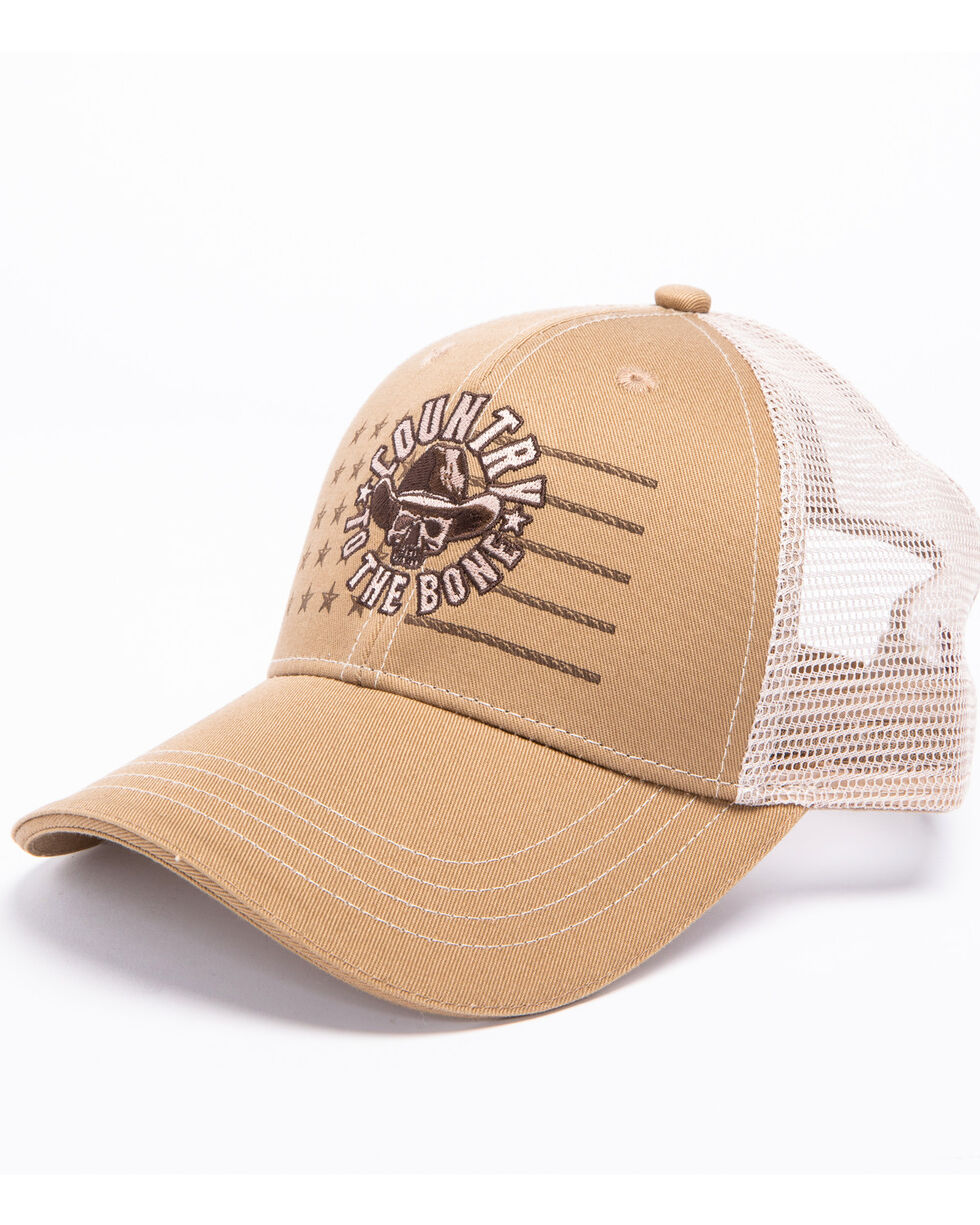 Cody James Men's Country To The Bone Trucker Cap, Tan, hi-res