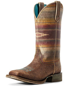 Ariat Women's Serape Savanna Western Boots - Wide Squar Toe, Brown, hi-res