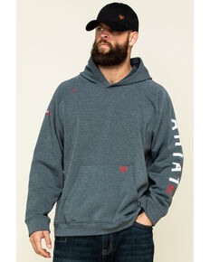 Ariat Men's FR Primo Fleece Roughneck Hooded Sweatshirt, Charcoal, hi-res