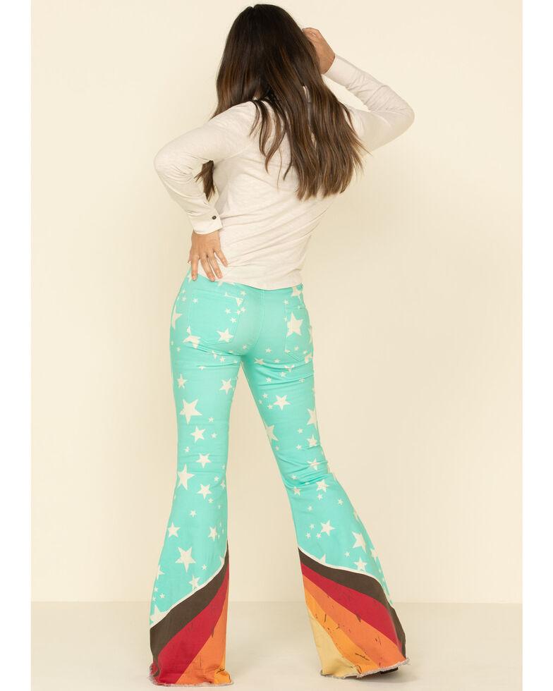 Ranch Dress'n Women's Retro Print Flare Jeans, Multi, hi-res