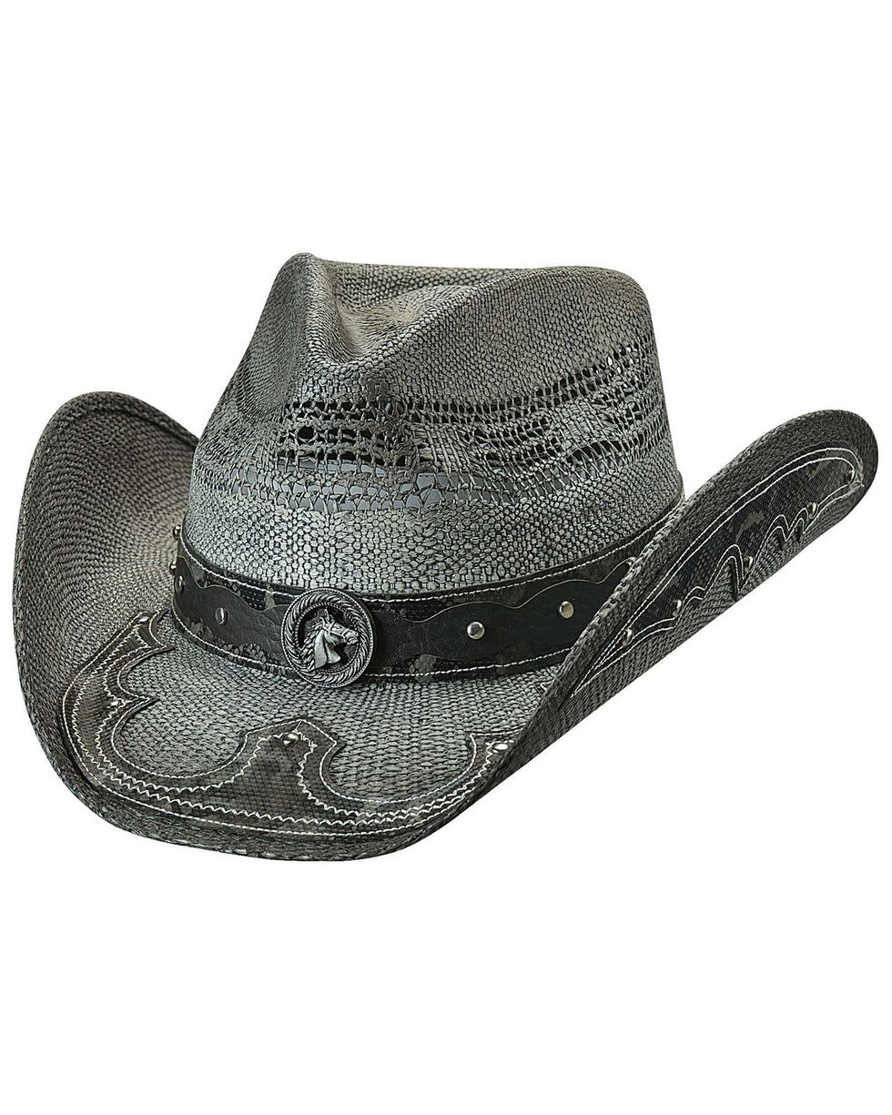 Bullhide Women's No Return Straw Hat, Black, hi-res