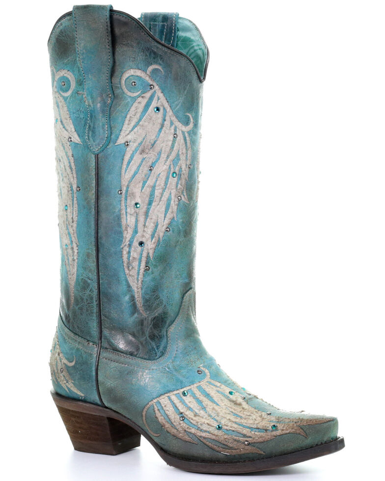 Corral Women's Wing Embroidery Western Boots   Snip Toe by Corral