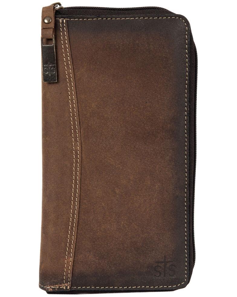 STS Ranchwear Rulebook Passport Wallet, Brown, hi-res