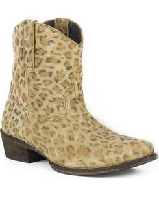 Roper Women's Leopard Print Western Boots - Snip Toe , Tan, hi-res