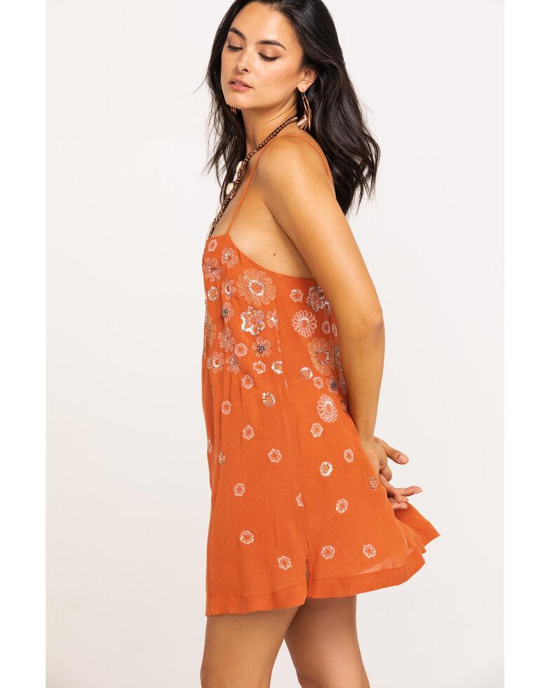 Free People Women's Azealia Embellished Slip Dress, Rust Copper, hi-res