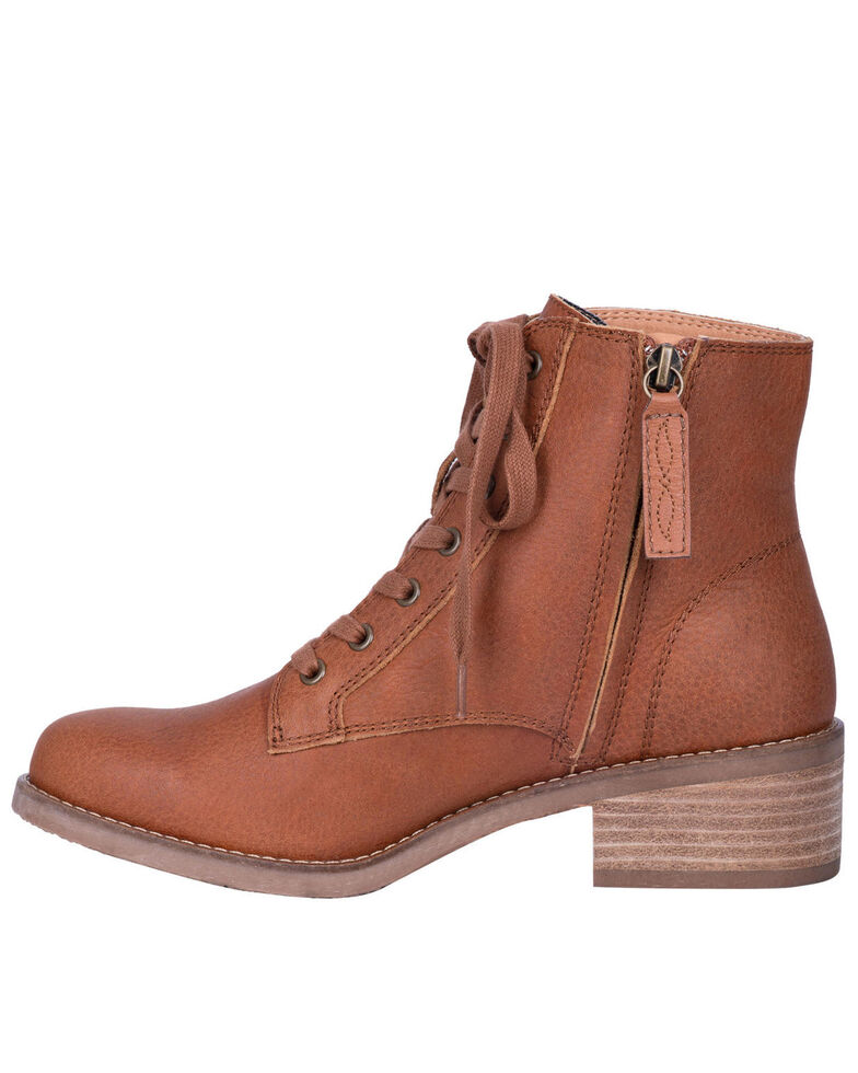 Dingo Women's Prairie Girl Lace-Up Boots - Round Toe, Cognac, hi-res