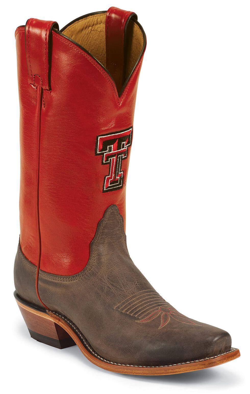 Nocona Texas Tech College Cowgirl Boots - Snip Toe, Tan, hi-res