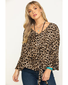 Ariat Women's Marilyn Top, Leopard, hi-res