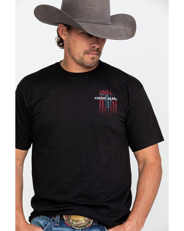 Cody James Men's Bull Flag Graphic T-Shirt , Black, hi-res