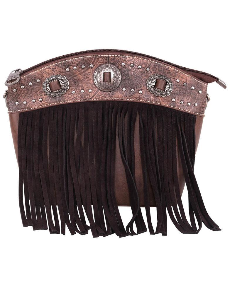 Montana West Women's Fringe Crossbody Bag, Brown, hi-res