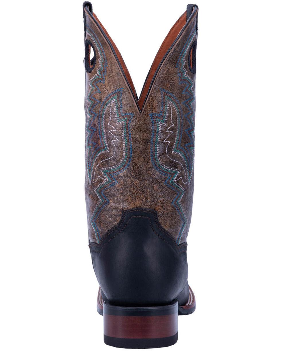 Dan Post Men's Deuce Western Boots - Wide Square Toe, Black/brown, hi-res