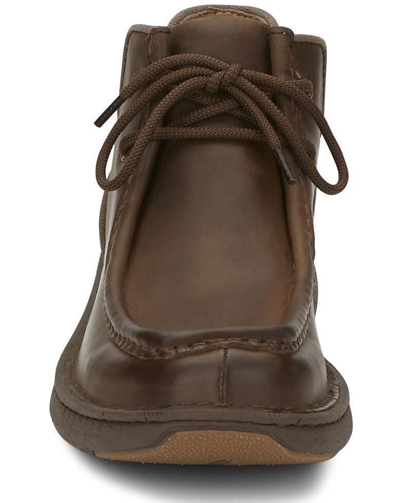 Justin Men's Hi-Call Lace-Up Boots - Moc Toe, Brown, hi-res