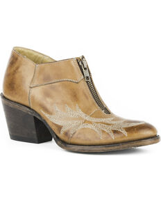 46049da78 Stetson Women's Nicole Brown Short Western Boots - Round Toe