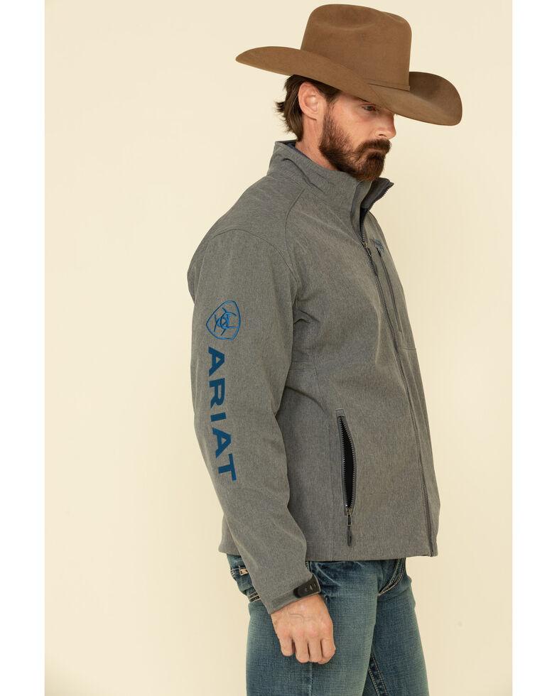 Ariat Men's Charcoal Logo 2.0 Softshell Jacket - Tall , Charcoal, hi-res