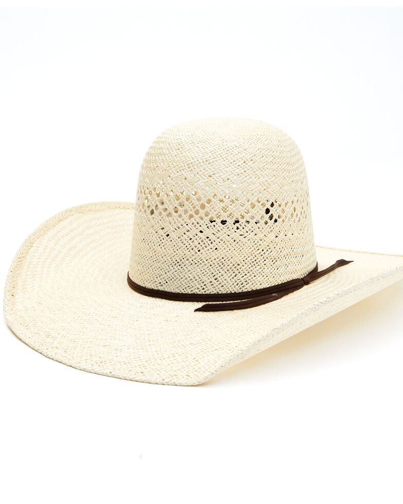 Rodeo King 25X Jute Open Crown Straw Western Hat , Natural, hi-res