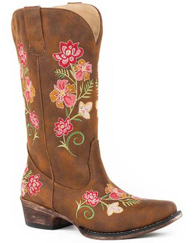 Roper Women's Vintage Cognac Western Boots - Snip Toe, Tan, hi-res