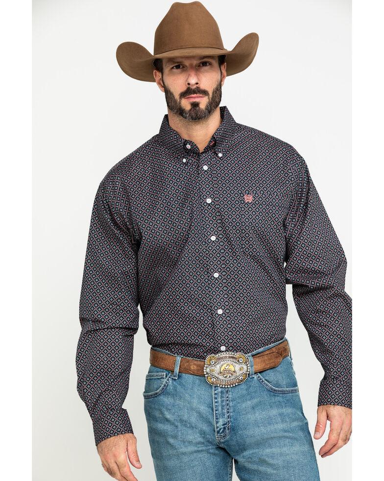 Cinch Men's Multi Floral Geo Print Long Sleeve Western Shirt , Multi, hi-res